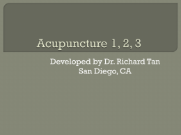 Dr. Tan`s Acupuncture 1, 2, 3