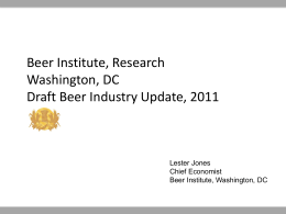 Slide 1 - Beer Institute