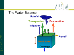 The APSIM Water Balance