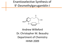 Enantioselective Synthesis of 9*