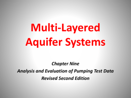 Chapter 9: Multi-layered aquifer systems