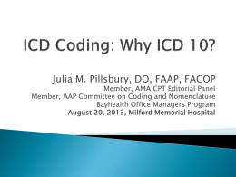 ICD 10 - Bayhealth Medical Center