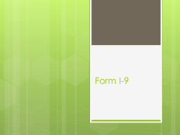 How to Complete a Form I9