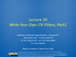 ITK Lecture 9