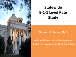 9-1-1 Level Rate Study Reportx - Alabama 9-1