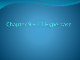 Chapter 9 hypercase