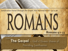 Lesson 10 – Romans 9:1-33 - West 65th Street church of Christ