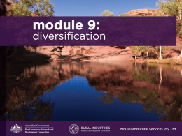 Module 9: Diversification and Income Earning Opportunities