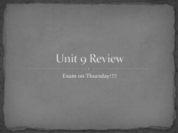 Unit 9 Review