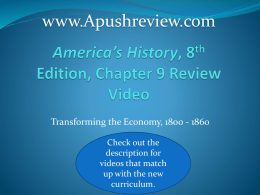 America`s History Chapter 9