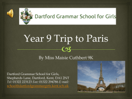 Year 9 Trip to Paris