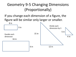 Geometry 9-5 Changing Dimensions (Non