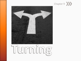 Chapter 9 - Turningx