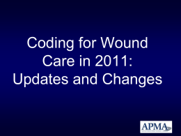 Coding for Wound care