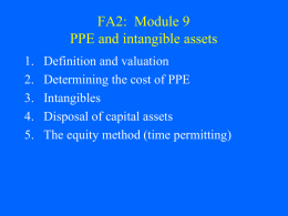 FA2: Module 9 Tangible and intangible capital assets