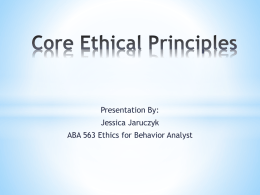 Chap 2 Core Ethical Principles