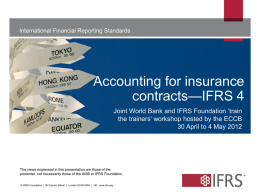 Accounting for insurance contracts—IFRS 4