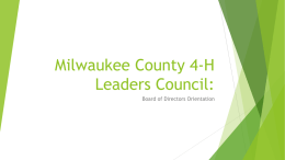Milwaukee County 4-H Leaders Council: