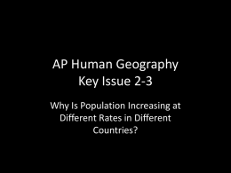Ch. 2 Population Sec. 2.3 - Demographic Transition Model