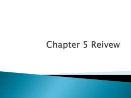 PPT Chapter 5 Reviewx