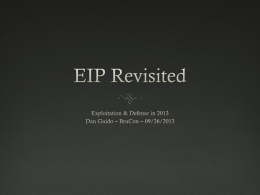 EIP Revisited - Trail of Bits