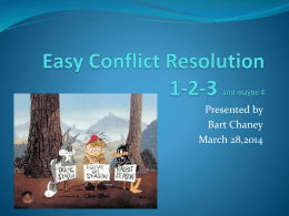 Easy Conflict Resolution 1-2