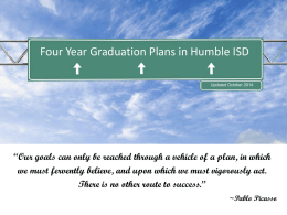 4 Year Graduation Plan Powerpoint