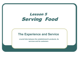 Lesson 5 - Serving Food (revised)