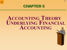 Chapter 5 - Accounting Theory