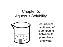 Chapter 5: Aqueous Solubility