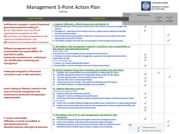 Management 5-Point Action Plan Summary