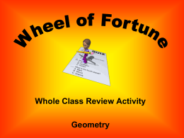 Geometry 5 Wheel of Fortune