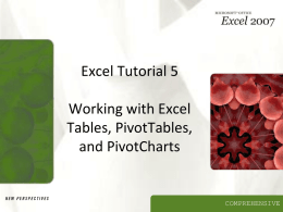 Excel Tutorial 5