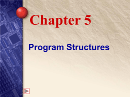 Chapter 5 Program Structures