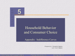 Chapter 5: Household Behavior and Consumer Choice