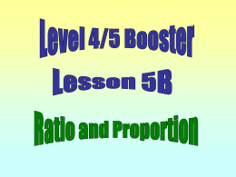 Lesson 5. Ratio and Proportion