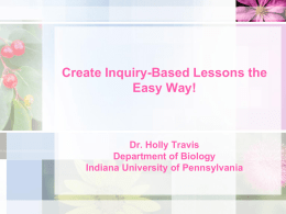 Create Inquiry-based Science Lessons the Easy Way