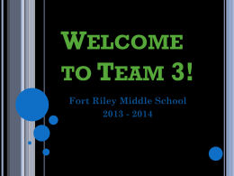 Welcome to Team 3! - Geary County Schools USD 475