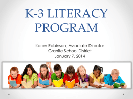 K-3 LITERACY PROGRAM - Granite School District