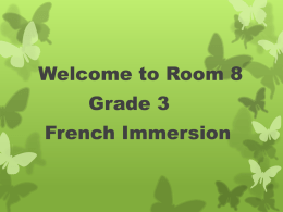 Curriculum Outline Grade 3 French Immersion 2013