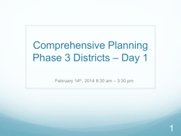 Comp planning Phase 3 day 1x - Comprehensive Planning