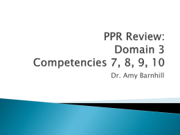 PPR Review: Domain 3 - UHV TExES Preparation