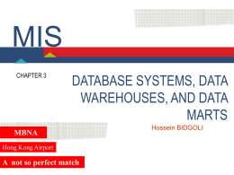 3. Database Systems, Data Warehouses, and