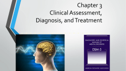 Chapter 3 Clinical Assessment, Diagnosis, and Treatment