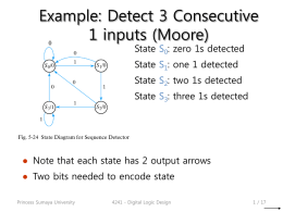 Example: Detect 3 Consecutive 1 inputs