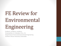 Chemical Foundations - Civil and Environmental Engineering | SIU