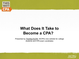 Steps to Become A CPA