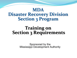 PowerPoint - Mississippi Disaster Recovery