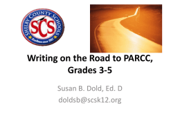 Writing on the Road to PARCC 3-5