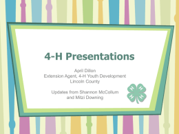 4-H Presentations file - Buncombe County Cooperative Extension